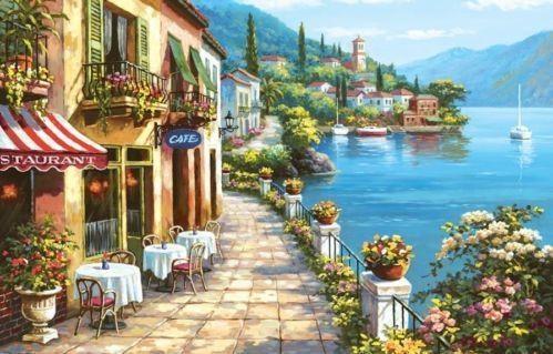 Wall Art Design Ideas: Italian Villages Wall Art Of Italy Canvas In Canvas Wall Art Of Italy (Image 18 of 20)