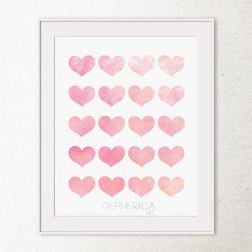 Wall Art Design Ideas: Love Heart Girly Wall Art Shaped In Hearts Canvas Wall Art (Image 20 of 20)