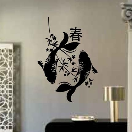 Wall Art Design Ideas: Mixture Canvas Fixed Koi Wall Art Materials Within Abstract Fish Wall Art (View 14 of 20)