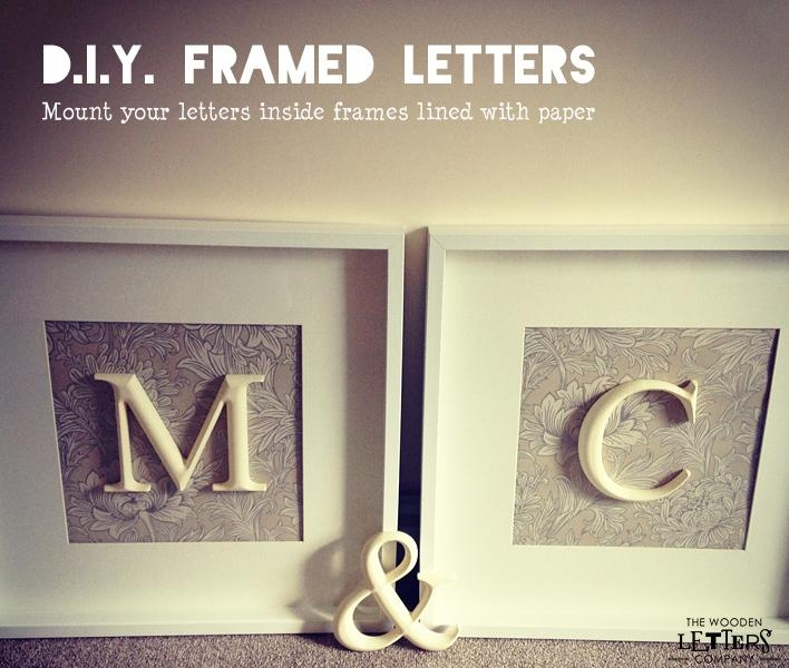Wall Art Design Ideas: Mounted White Framed Letter Wall Art Square Intended For Letters Canvas Wall Art (Image 18 of 20)