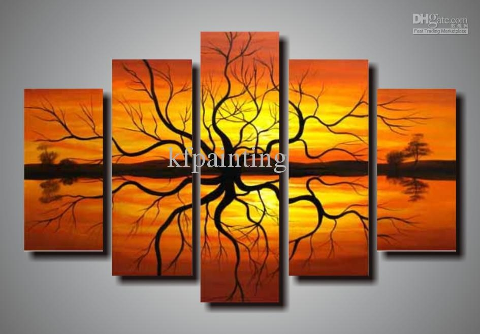 Wall Art Design Ideas: Nice Premium Hand Painted Wall Art Canvas With Hand Painted Canvas Wall Art (Image 15 of 20)