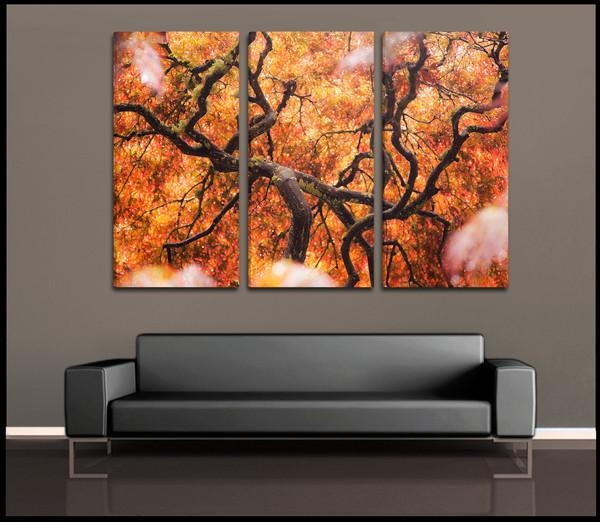 Wall Art Designs: 3 Piece Canvas Wall Art Rectangle Orange Black Throughout Orange Canvas Wall Art (View 18 of 20)