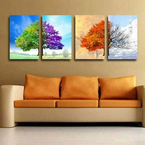 Wall Art Designs: Abstract Canvas Wall Art 4 Pieces Huge Canvas No Within Modern Abstract Huge Oil Painting Wall Art (Image 16 of 20)