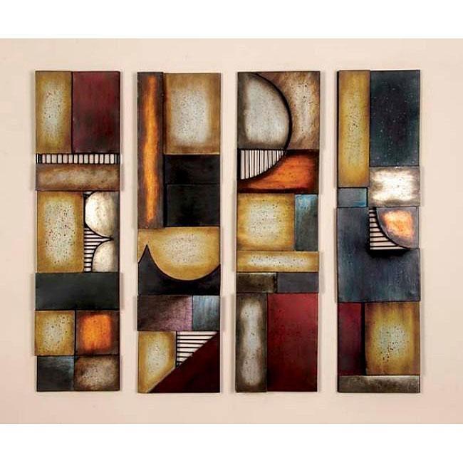 Wall Art Designs: Abstract Metal Wall Art Geometric Multicolor Within Abstract Geometric Metal Wall Art (Image 17 of 20)