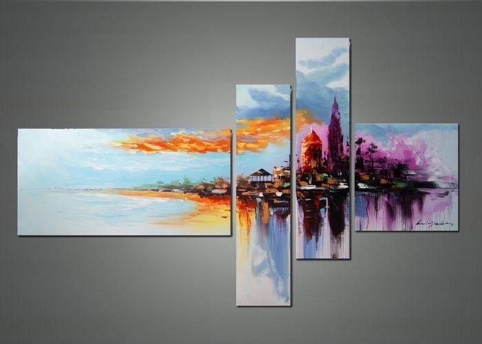 Wall Art Designs: Abstract Wall Art Modern Cityscape Wall Art For Abstract Oil Painting Wall Art (View 20 of 20)
