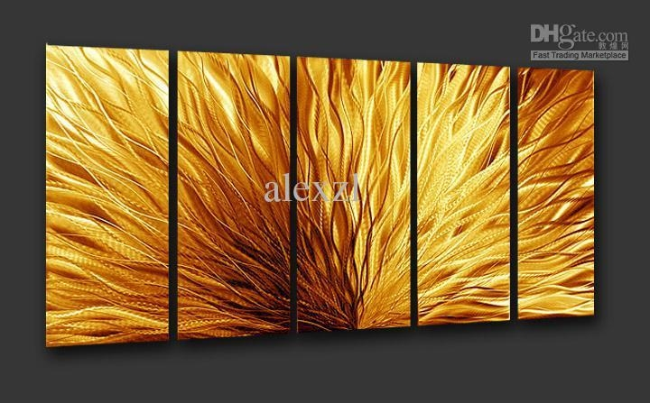 Art Décor: Wall Art: Abstract Metal Wall Art Painting (#8 Of 20 Photos