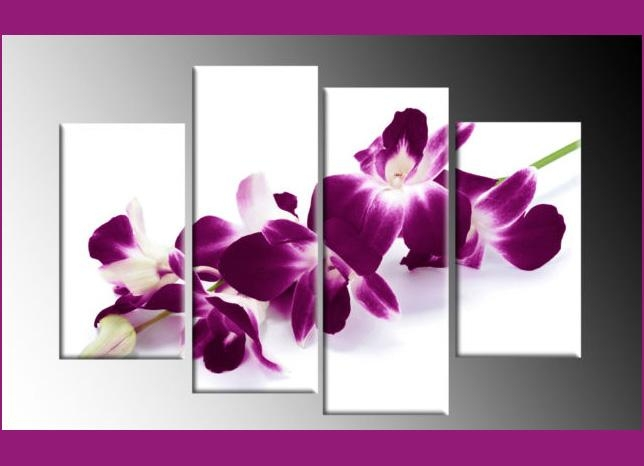 Wall Art Designs: Antique 10 Plum Coloured Wall Art Design Bright With Regard To Orchid Canvas Wall Art (Image 19 of 20)
