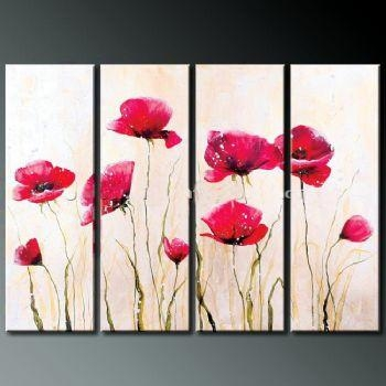 Wall Art Designs: Art Wall Decor Poppy Blossom Iv Modern Canvas Inside Poppies Canvas Wall Art (Image 18 of 20)
