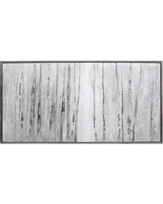 Wall Art Designs: Birch Tree Wall Art Polar White Framed Winter With Regard To Birch Trees Canvas Wall Art (View 5 of 20)