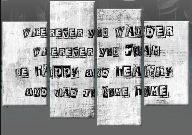 Wall Art Designs: Canvas Wall Art Quotes Family Quote 4 Panel Within Canvas Wall Art Family Quotes (View 11 of 20)