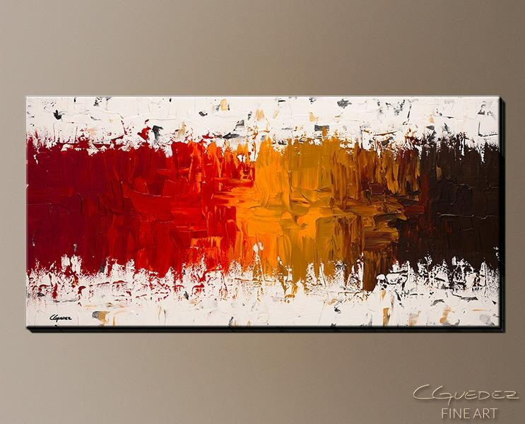 Wall Art Designs: Cheap Canvas Wall Art Luminescence Abstract Art Throughout Orange Canvas Wall Art (View 11 of 20)