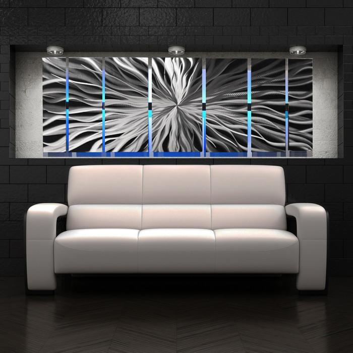 Wall Art Designs: Contemporary Wall Art Decor Cosmic Energy Large With Light Abstract Wall Art (Image 18 of 20)