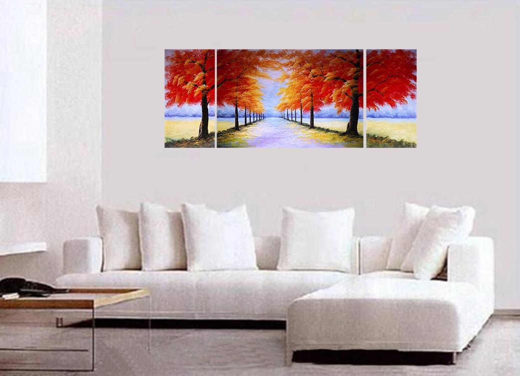Wall Art Designs: Contemporary Wall Art Decor Japanese Cherry Pertaining To Modern Canvas Wall Art (Image 16 of 20)