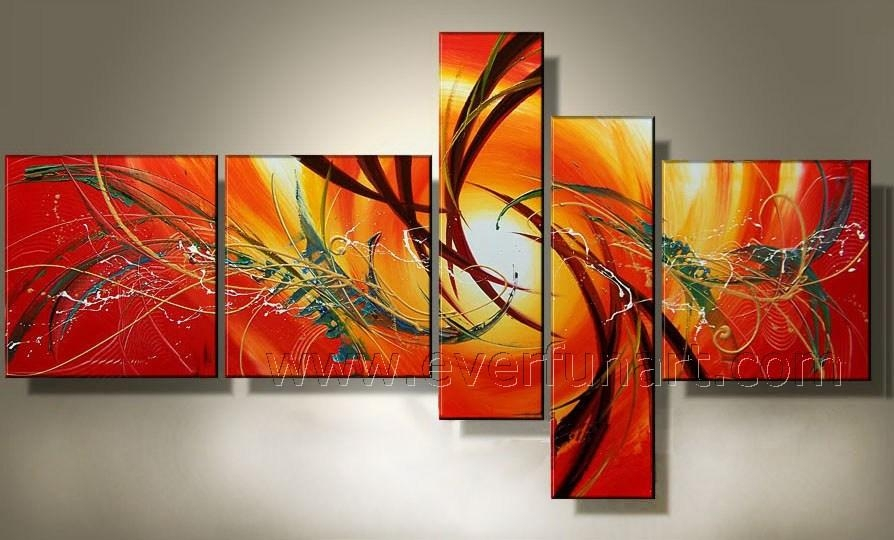 Wall Art Designs: Discount Wall Art Handmade Stretched Canvas Wall For Abstract Oil Painting Wall Art (View 13 of 20)