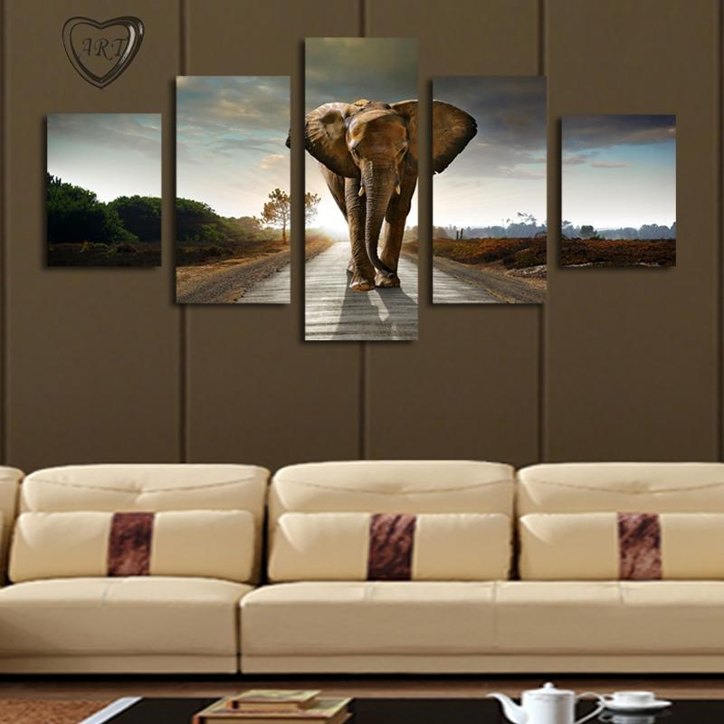 Wall Art Designs: Extra Large Wall Art Elephant Painting Canvas Pertaining To Living Room Canvas Wall Art (Image 19 of 20)