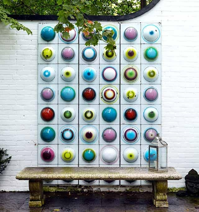 Wall Art Designs: Garden Wall Art Colorfuly Garden Wall Art Intended For Abstract Outdoor Wall Art (View 7 of 20)