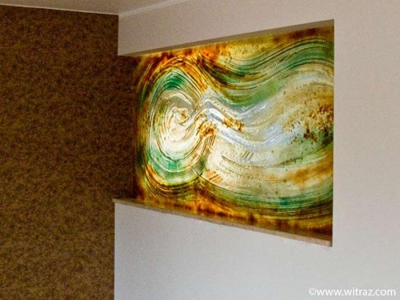 Wall Art Designs: Glass Wall Art Fused Glass Abstract Wall Panel Regarding Glass Abstract Wall Art (View 2 of 20)