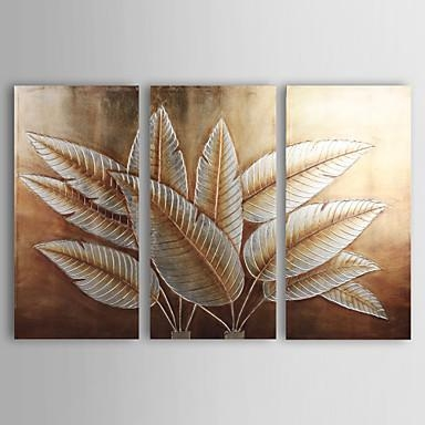 Wall Art Designs: Gold Wall Art Hand Painted Canvas Painting With Leaves Canvas Wall Art (View 3 of 20)