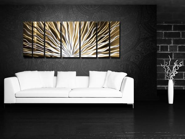 Wall Art Designs: Horizontal Wall Art Modern Abstract Meta Wall In Long Abstract Wall Art (Image 20 of 20)