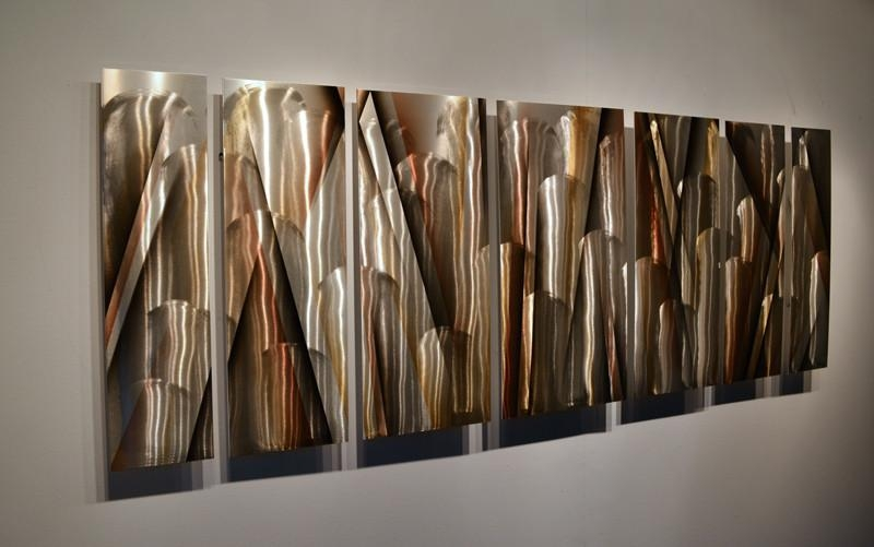 Wall Art Designs: Large Metal Wall Art Earthtone Large Modern Regarding Abstract Metal Sculpture Wall Art (Image 16 of 20)