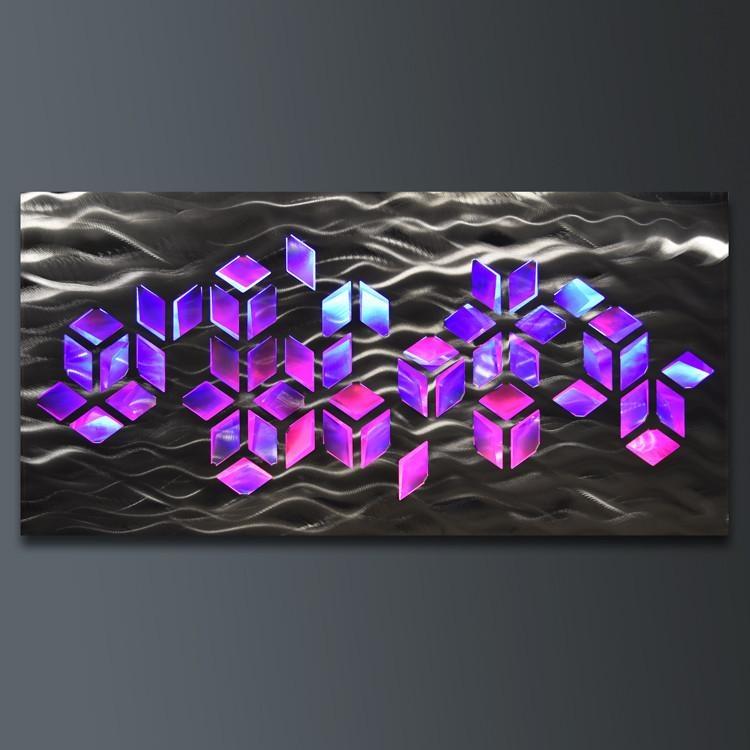Wall Art Designs: Led Wall Art Abstract Geomatric Design Metal For Abstract Geometric Metal Wall Art (Image 18 of 20)