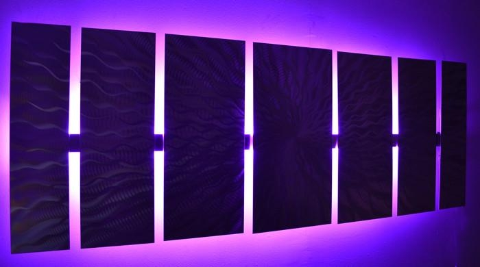 Wall Art Designs: Led Wall Art Abstract Metal Wall Art With Led Throughout Light Abstract Wall Art (Image 19 of 20)