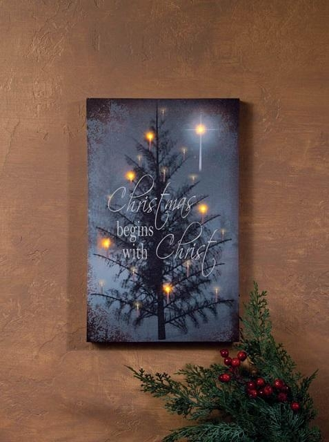 Wall Art Designs: Lighted Wall Art Canvas Christmas Begins With In Lighted Canvas Wall Art (View 2 of 20)