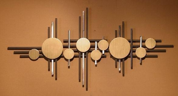 Featured Image of Abstract Metal Sculpture Wall Art