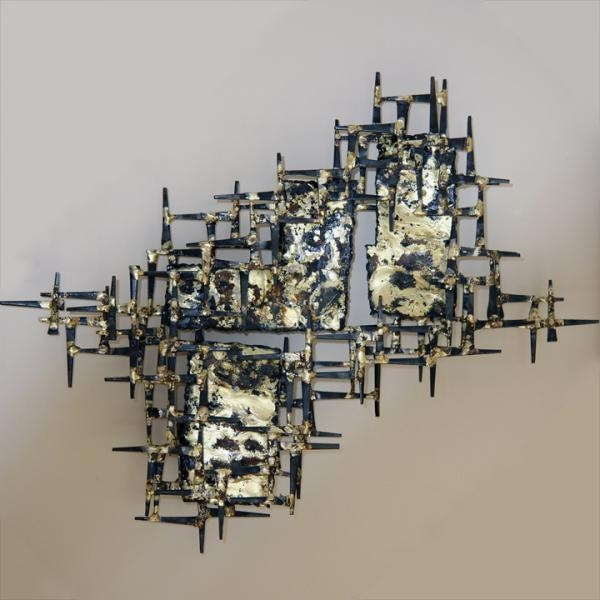 Wall Art Designs: Metal Sculpture Wall Art Meteor Storm Abuzz For Abstract Metal Sculpture Wall Art (Image 19 of 20)