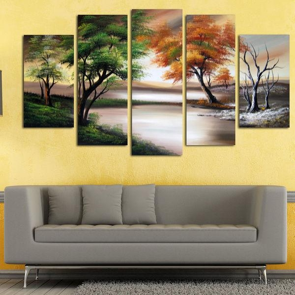 Wall Art Designs: Nature Wall Art Abstract Oil Canvas Paintings Pertaining To Abstract Nature Wall Art (Image 20 of 20)