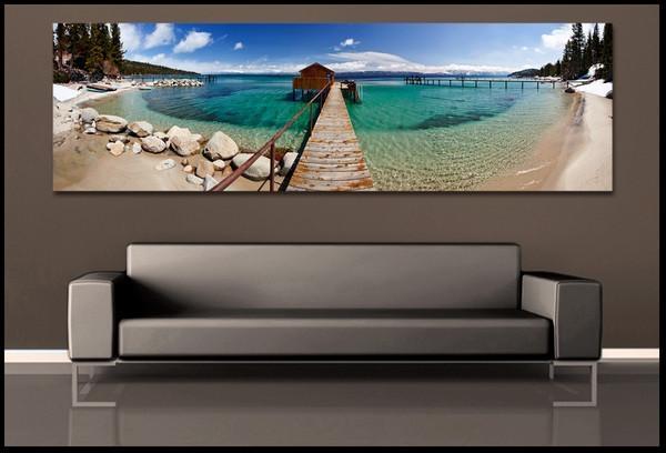 Wall Art Designs: Ocean Wall Art Home Decor, Beach Canvas Art Regarding Panoramic Canvas Wall Art (Image 18 of 20)
