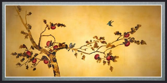 Wall Art Designs: Oriental Wall Art Birds On Plum Tree Canvas Wall For Birds Canvas Wall Art (View 10 of 20)