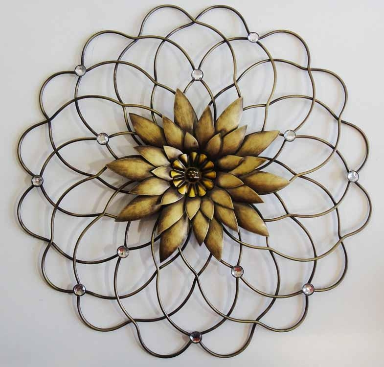Wall Art Designs: Steel Wall Art Vintage Metal Wall Art Home Decor Inside Abstract Flower Metal Wall Art (Photo 8 of 20)