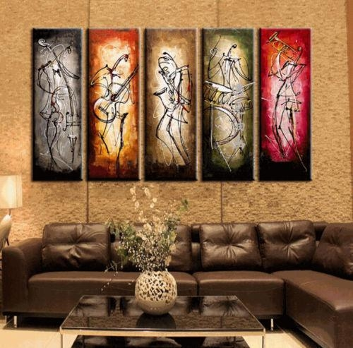 Wall Art Designs: Top 20 Wall Art Paintings, Canvas Prints From Inside Modern Abstract Huge Oil Painting Wall Art (Image 18 of 20)