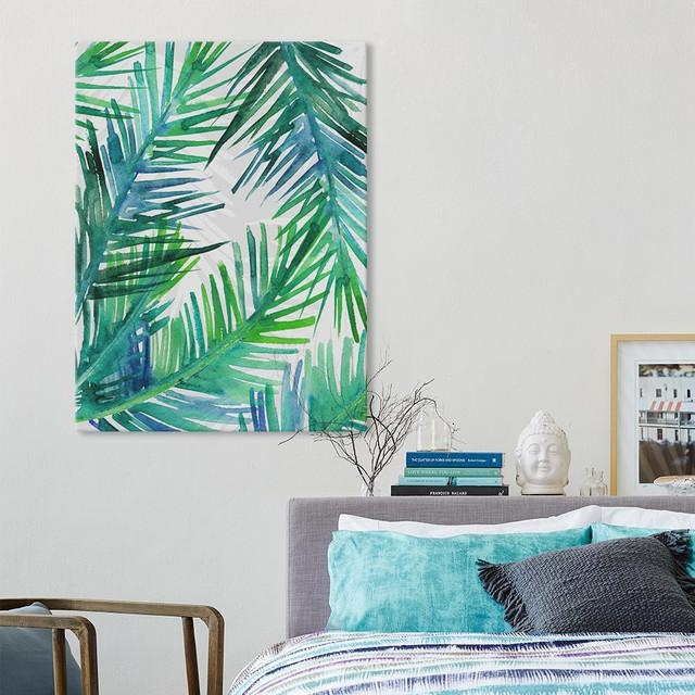 Wall Art Designs: Tropical Wall Art Palm Leaf Wall Art Kanvas With Regard To Abstract Leaves Wall Art (Image 19 of 20)