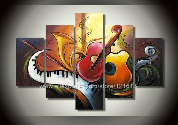 Wall Art Designs: Wall Art Canvas Abstract Art Music Theme Wall Intended For Music Canvas Wall Art (View 16 of 20)