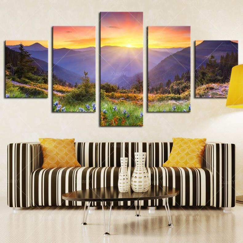 Featured Image of Mountains Canvas Wall Art