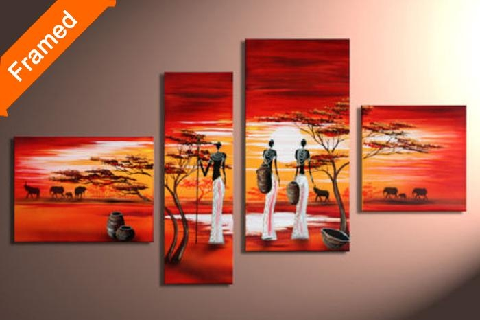Wall Art: Gallery Of Panel Canvas Wall Art Canvas Art Panel Sets Throughout Ethnic Canvas Wall Art (Image 20 of 20)