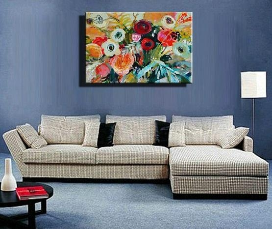 Wall Art Ideas For Living Room With Oil Painting Abstract | Home With Abstract Living Room Wall Art (Image 20 of 20)