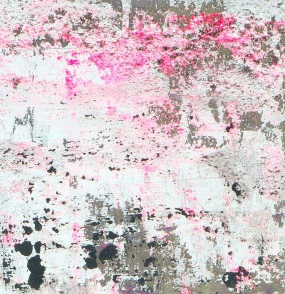 Wall Art Large Abstract Painting Neon Pink Black And White Intended For Abstract Neon Wall Art (Image 20 of 20)