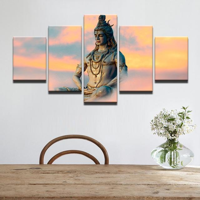 Wall Art Modern Pictures Frame Canvas Hd Printed Painting 5 Piece Intended For India Canvas Wall Art (Image 14 of 20)