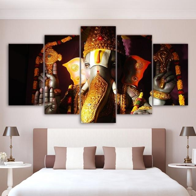 Wall Art Pictures Home Living Room Decor Ganesha Poster Frame 5 With Regard To India Canvas Wall Art (Image 15 of 20)