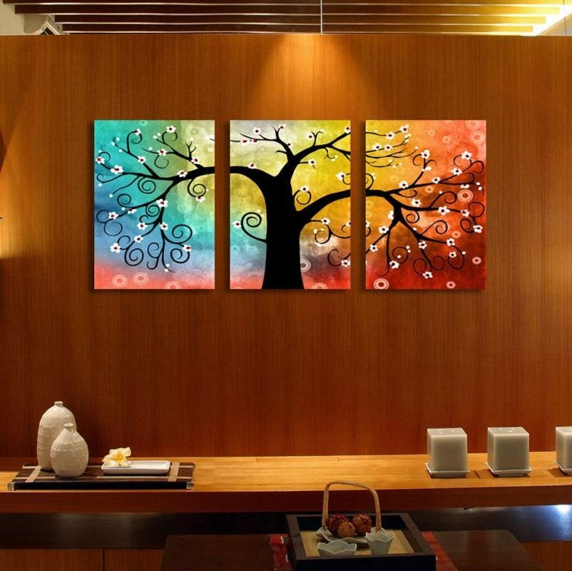 Wall Art Rainbow Tree Of Life Canva (End 4/24/2017 11:15 Am) With Malaysia Canvas Wall Art (Image 19 of 20)
