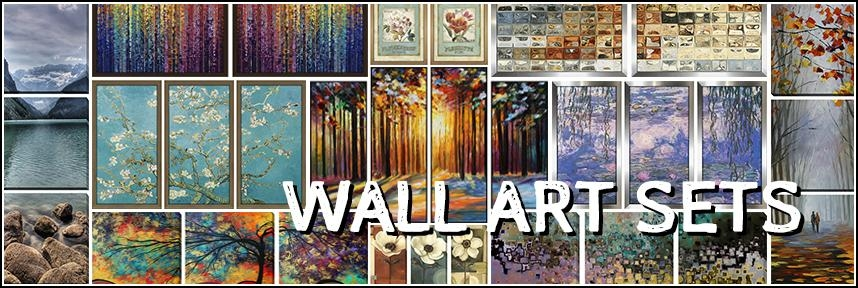 Wall Art Sets – Framed Canvas Art Throughout Groupings Canvas Wall Art (Image 20 of 20)