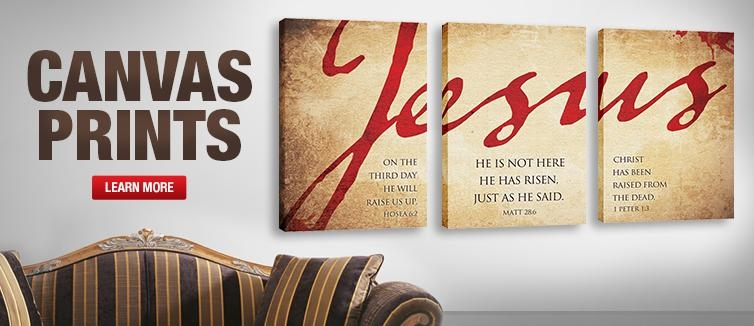 Wall Art: Top 10 Best Collection Church Wall Art Giant Wall Decals Throughout Jesus Canvas Wall Art (Image 19 of 20)