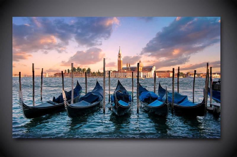 Wall Art: Top 10 Collection Venice Wall Art Venice Beach Art With Italy Canvas Wall Art (Image 20 of 20)