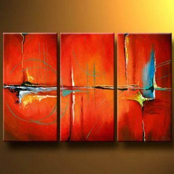 Wall Art: Top Ten Gallery Abstract Canvas Wall Art Contemporary In Orange Canvas Wall Art (View 15 of 20)