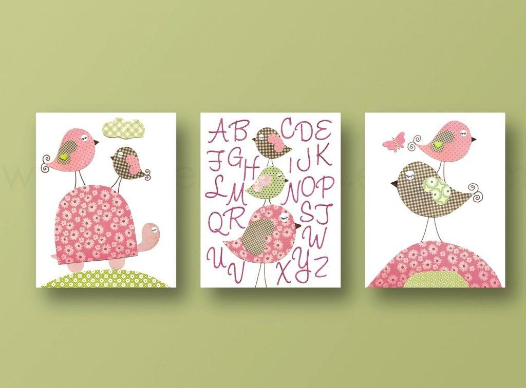 Wall Arts ~ Childrens Canvas Wall Art Australia Wonderful Girl Regarding Personalized Nursery Canvas Wall Art (View 9 of 20)