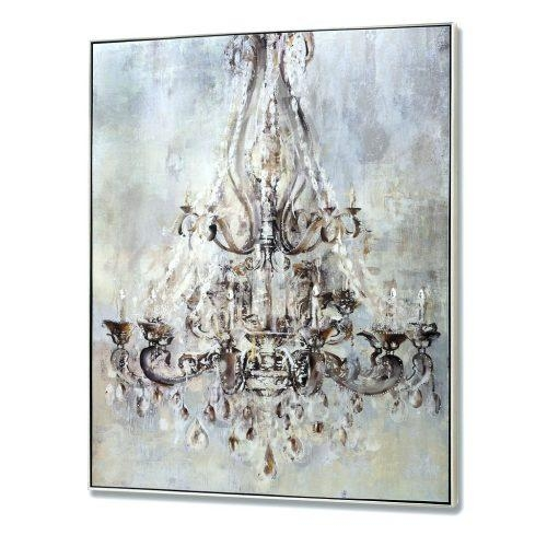 Wall Arts ~ Monsoon Floral Metallic Wall Art Canvas Metallic In Chandelier Canvas Wall Art (Image 20 of 20)