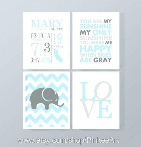 Wall Arts ~ Personalized Nursery Canvas Wall Art Boy Nursery In Personalized Nursery Canvas Wall Art (View 18 of 20)